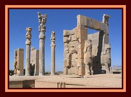 Gate of All Nations, main entrance of the city, Persepolis - article with photographs