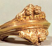 Golden bracelet; treasures of Ziwiyeh