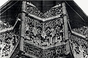 Details of the brick decoration from Minaret of Mas'ud III