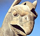 Griffin's head, detail from a capital at the Apadana, Persepolis