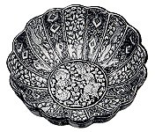 Pottery bowl with lobed sides, Sultanadad style