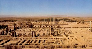 A view over the ruins of Persepolis