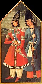 Qajar prince and his attendant