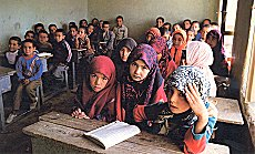 Turkmen children at a school