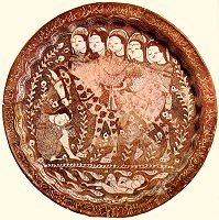 Moulded lustre plate made in 1210